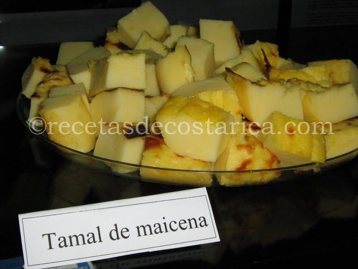 Cocina Costarricense: tamal de maicena