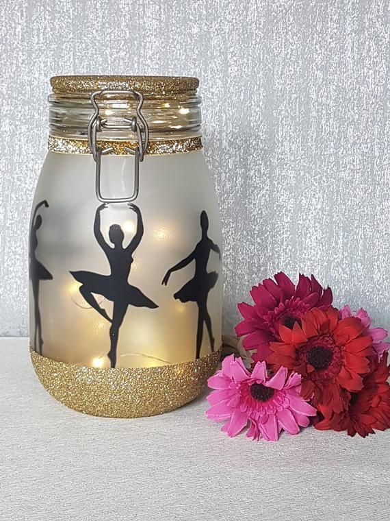 Ballerina Night Light Jar Little Ballerina Fairy Light Up Etsy In 2020 Jar Lights Fairy Lights In A Jar Fairy Lights