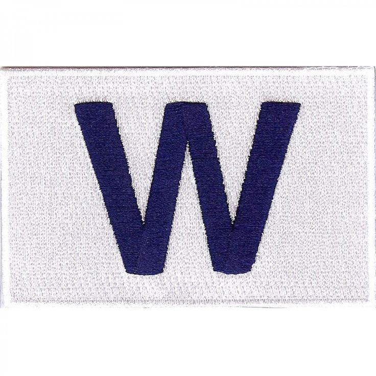 Chicago Cubs Winning Flag 'W' Patch