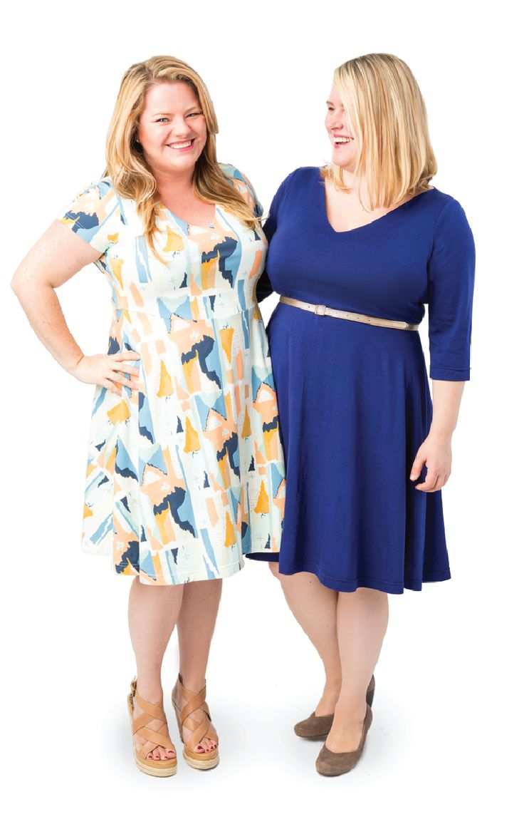Introducing the Cashmerette Turner Dress! It's a knit dress designed for curves, with a lined V neck bodice and perfectly swishy skirt. And like all Cashmerette Patterns, in comes in sizes 12 - 28 and cup sizes C - H.