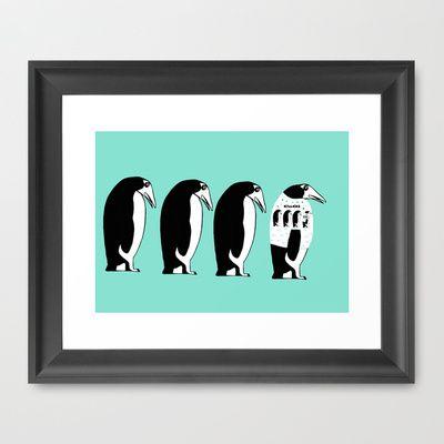 Penguins Framed Art Print by Verene Krydsby - $39.00