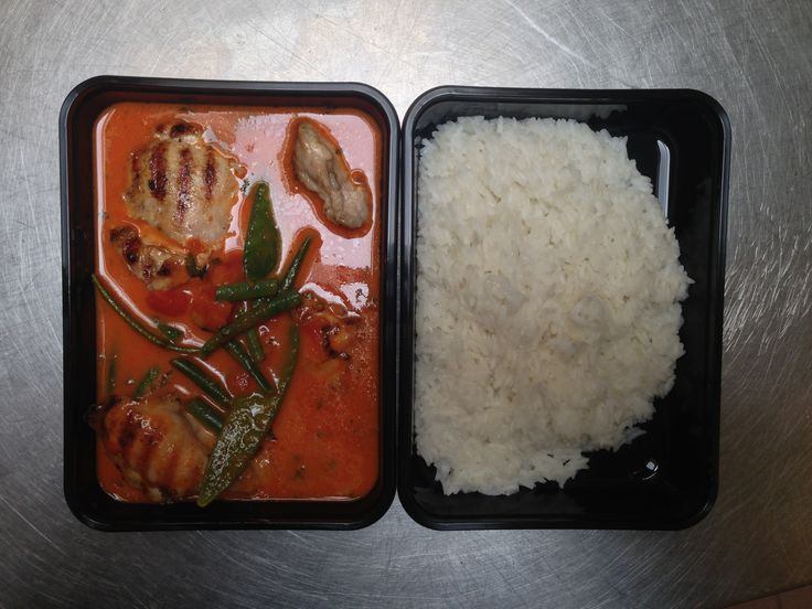 Thaise Rode Curry, Peultjes, Kip, Sereh, Verse Laos & Jasmijn/Kokos Rijst