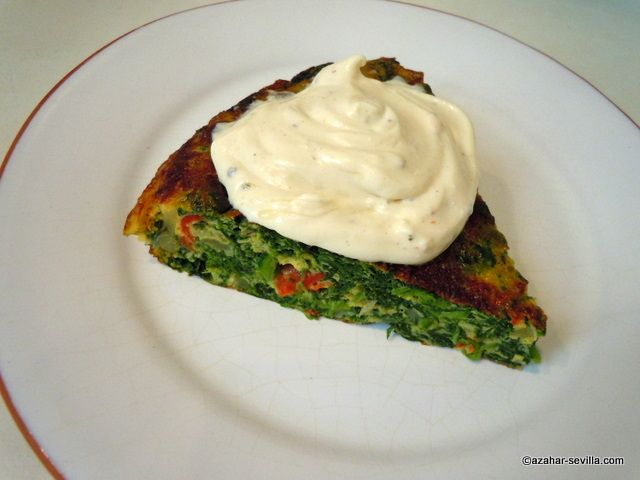 Low carb/ vegetarian ---spinach tortilla