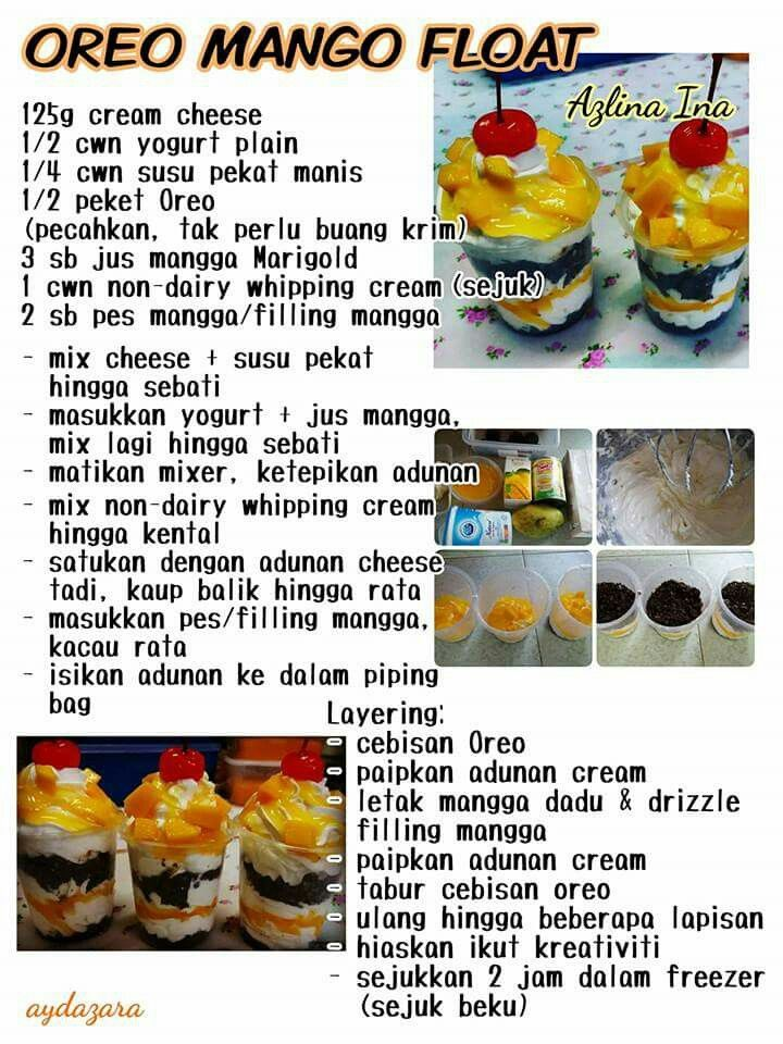 Resepi Mango Float Azlita