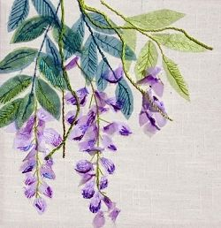 Wisteria Exotic Flower Textile Embroidery Kit 0141