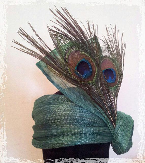 Tocado-banda Brigitte en sinamay de seda por UnBibiPourMoi en Etsy