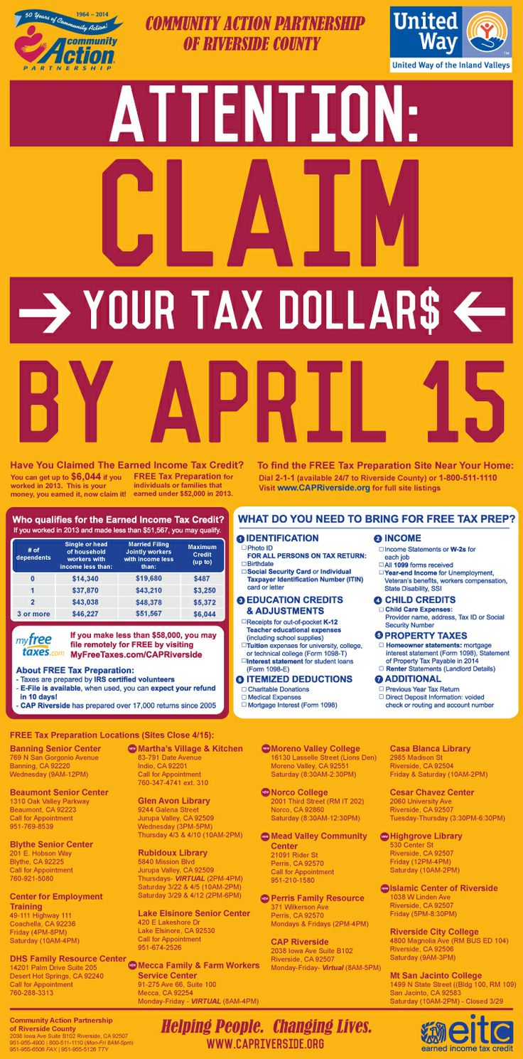 Need tax help county of riverside has options