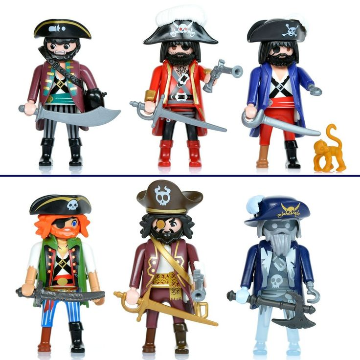 playmobil x6 pirates ship figures lot knights accessories captain weapons new #PLAYMOBIL