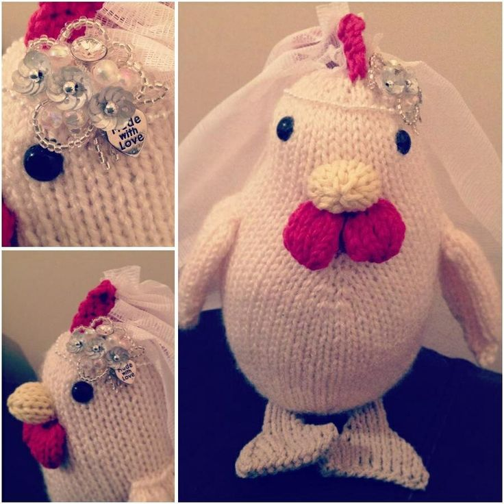 'Hen' Party knitted hen