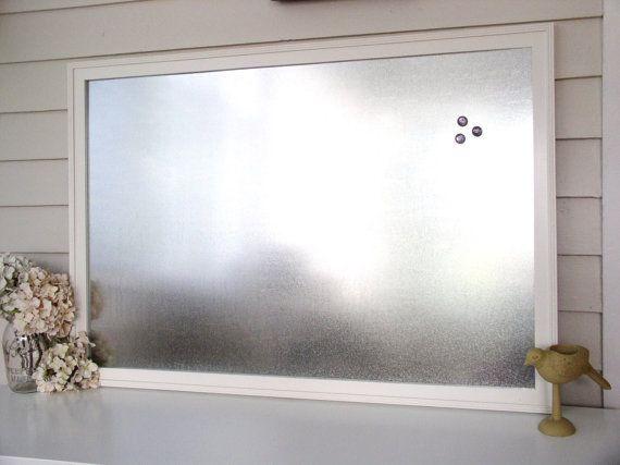 industrial home office xlarge magnetic bulletin board dry erase handmade frame 265 x 385 galvanized steel metal wedding seating chart