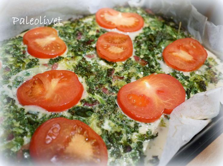 Paleo Grønkålstærte med saftig kødbund