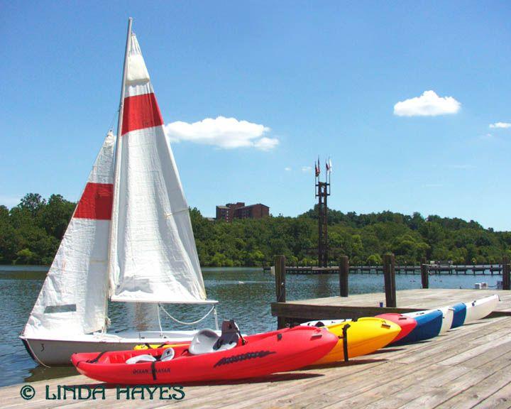 Lake Kittamaqondi, Columbia, MD -sailboats and kayaks
