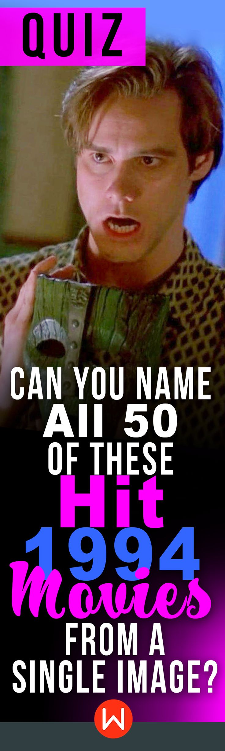 From Forrest Gump and Pulp Fiction to True Lies and #TheMask, do you know them all? #1994 Can you ace this Movie #quiz about the 50 top Movies from 1994? #90s Trivia test, 90s pop culture quiz. Fun quiz #JimCarrey