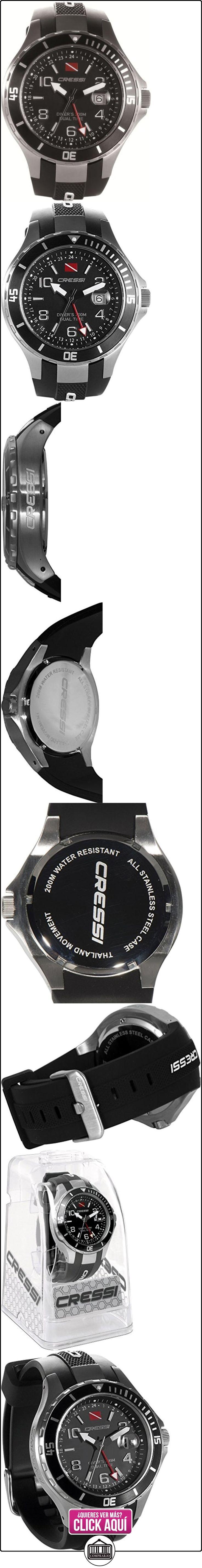 Cressi Dual - Reloj de buceo con doble huso horario, cristal mineral  ✿ Relojes para hombre - (Gama media/alta) ✿ ▬► Ver oferta: https://comprar.io/goto/B00HDQF7HU