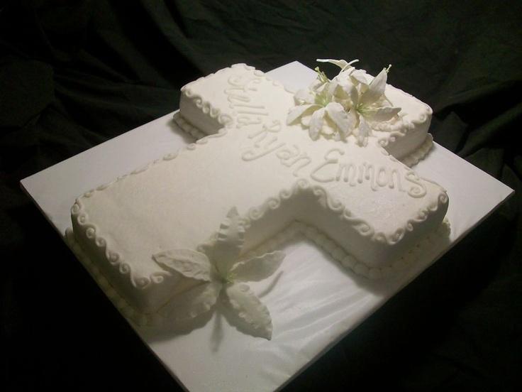 Baptism Cross Cake — First Communion