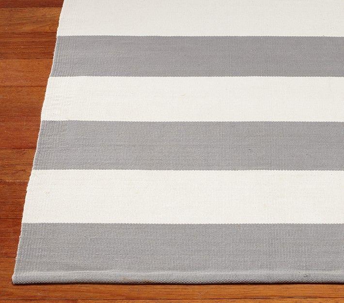 drop cloth rug - I would love HUGE stripes