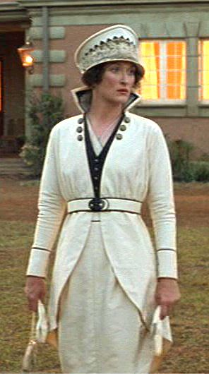 """Out of Africa"", Meryl Streep wearing Milena Canonero's design. I'm in love with this!"
