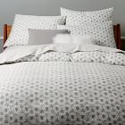Neutral bedding for ease decorating + duvet covers help simplify washing. 400-Thread-Count Organic Optic Prism Sateen Duvet Cover + Shams | west elm