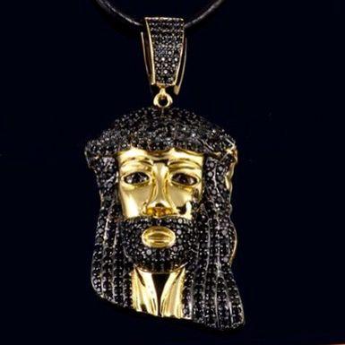 Bullion Heaven product  jesuspiece black diamond pendant check out our website now www.bullionheaven.bigcartel.com #miamicubanlink #cubanlink #goldlink #goldchain #goldpiece #goldnugget #bullionheaven #18k #14k #jesuspiece #angelpiece #pharaohpendant #boss #stacks #swaggod #highsnobiety #hypebeast #rvspgallery  #amhush #dopepiece #blvck #goldheaven #hippop #golggod