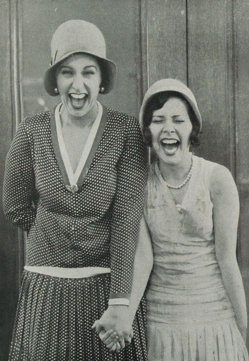 1928 << I love this. What were they laughing about? What could be so humorous?