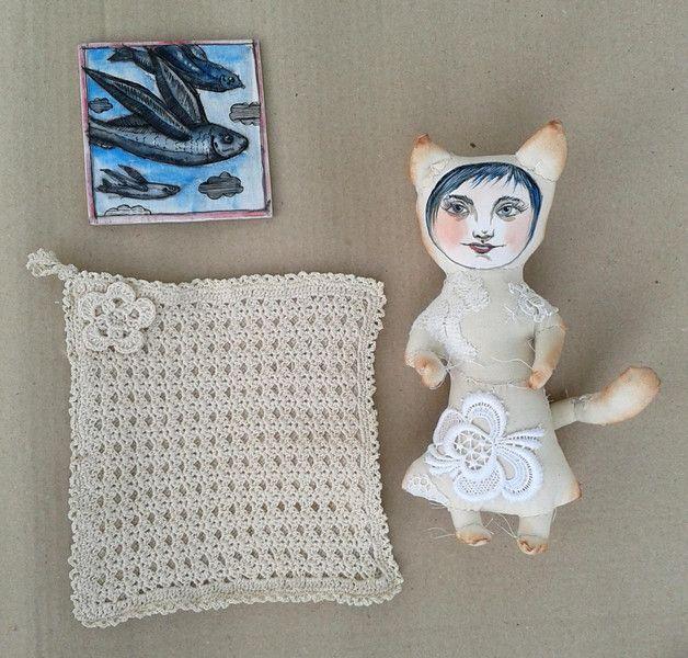 Kitty...das Set...Kunst... von Galerie MIZUMI auf DaWanda.com