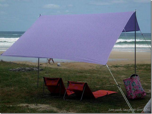 Simple DIY Beach Shade Pool Beach Shade DIY Beach Tent