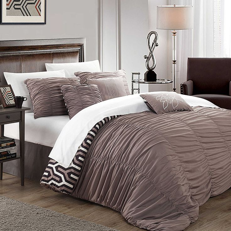 bed bath and beyond brown bedding