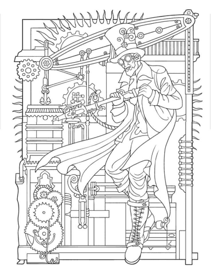 339 Best ColouringSteampunk Images On Pinterest