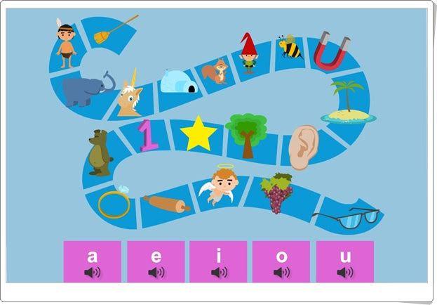 El sendero de las vocales (Juego de vocales para Educación Infantil)