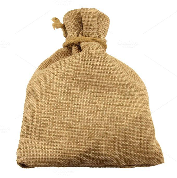 Isolated Burlap Bag by Lucion Creative on Creative Market