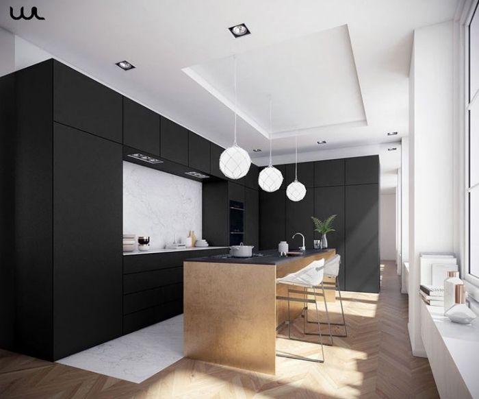 ▷ 1001 + exemples sublimes de la cuisine noire et bois | cuisine ...
