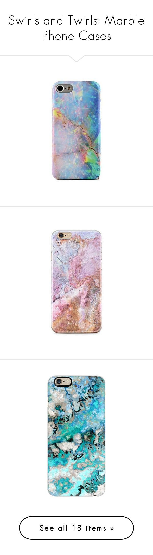 """""""Swirls and Twirls: Marble Phone Cases"""" by polyvore-editorial ❤ liked on Polyvore featuring marblephonecases, accessories, tech accessories, phone cases, phone, cases, celulares, yeahbunny, iphone and marble"""