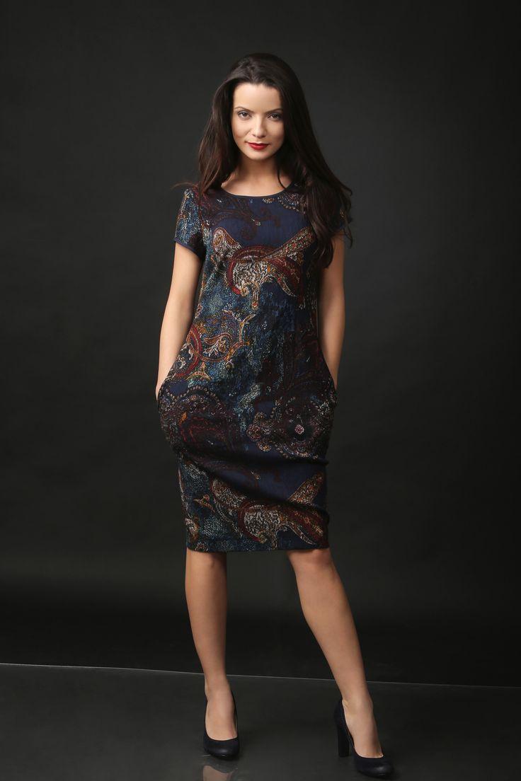 Textured viscose elegant dress NOSTALGIA YOKKO |Fall16  #viscose #dress #pockets #elegant #fall16 #yokkoinspiration #fashion #style #newcollection