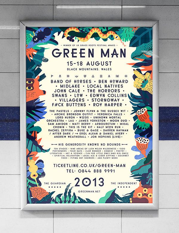 Green Man Festival poster in Festival