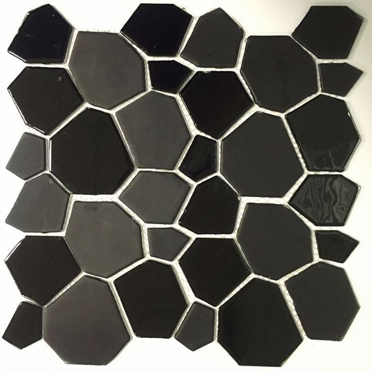 "Found it at AllModern - 12"" x 12"" Glass Peel and Stick Mosaic Tile in Black"