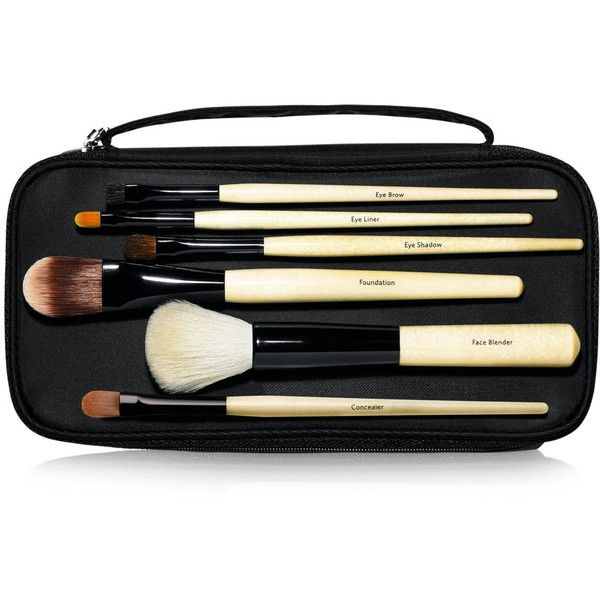 Bobbi Brown Basic Brush Collection ($195) ❤ liked on Polyvore featuring beauty products, makeup, makeup tools, makeup brushes, set of makeup brushes, black makeup brushes and bobbi brown cosmetics