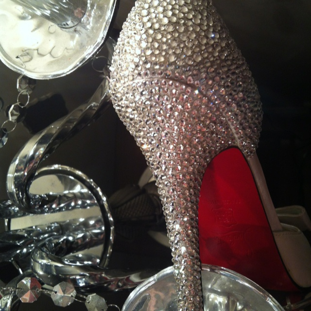 Crystal louboutins wedding shoes. @ mimi