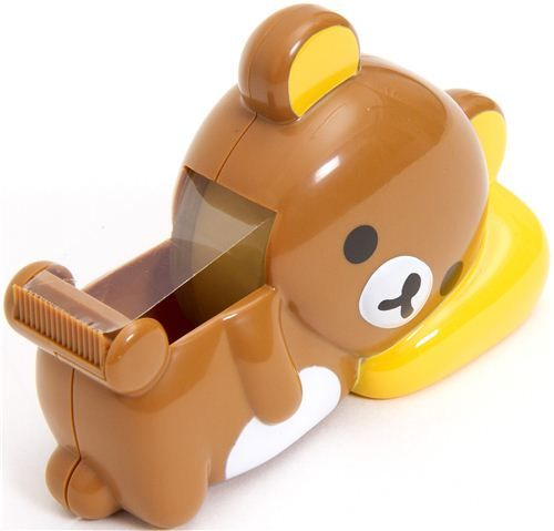 Rilakkuma bear adhesive tape dispenser cutter