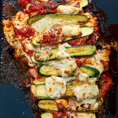 Taste Mag | Baby marrow lasagne @ https://taste.co.za/recipes/baby-marrow-lasagne/