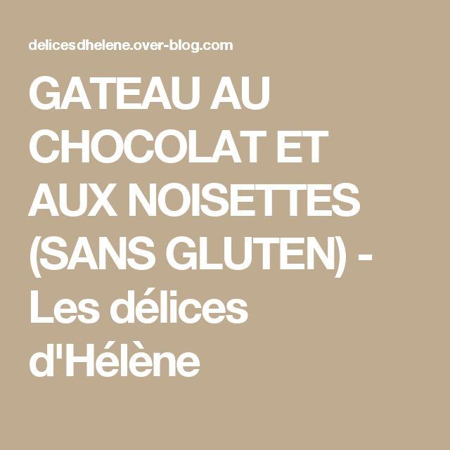 GATEAU AU CHOCOLAT ET AUX NOISETTES (SANS GLUTEN) - Les délices d'Hélène