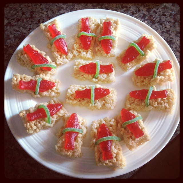 Rice Krispies Sushi Recipe — Dishmaps