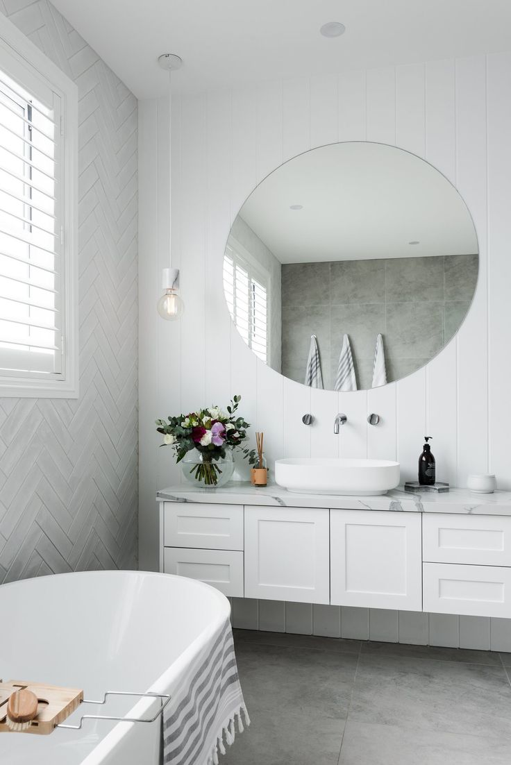 Herringbone Tile Feature White Tiles Subway Tiles