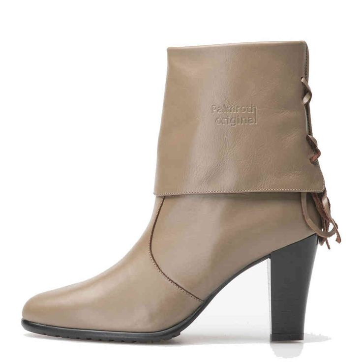 Palmroth high heel short boot taube leather -40%