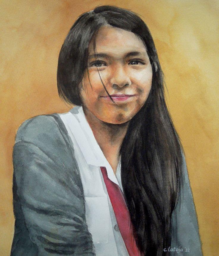 Priscilla watercolor, 2012