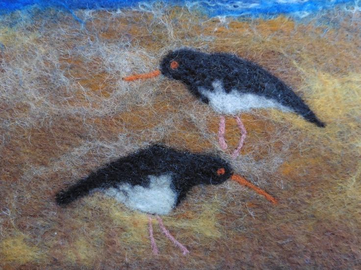 More oystercatchers!  You can see more by LittleDeb on Facebook, Folksy and Etsy.