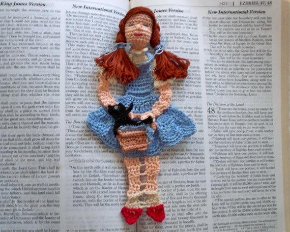 Amigurumi Doll Book : Bookmark halloween bookworm gifts amigurumi doll crochet