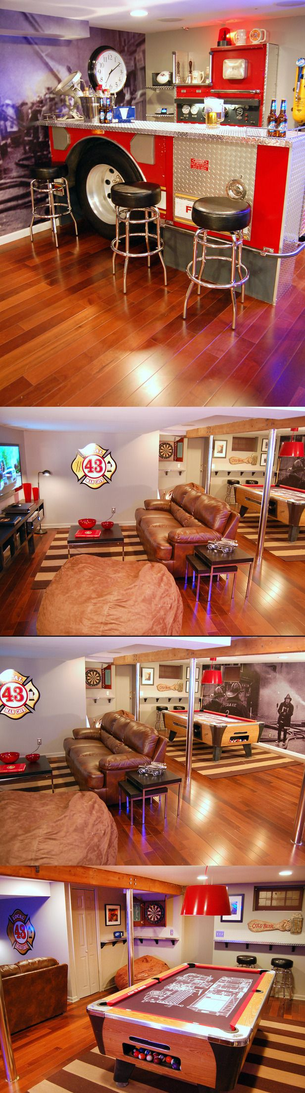 Man Cave Decor Jobs : Images about man cave ideas firefighter on