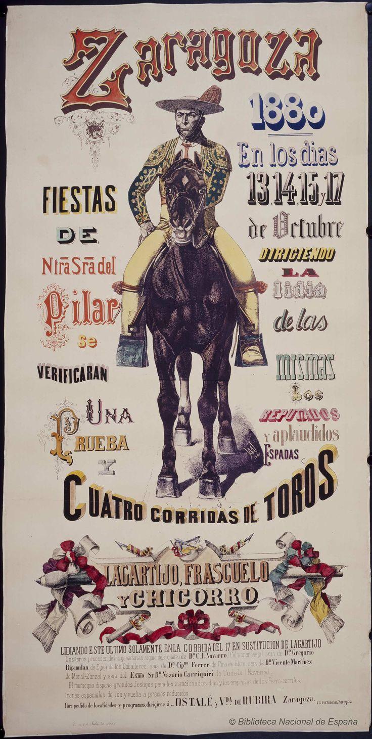 Cuatro corridas de toros. Plaza de toros de La Misericordia (Zaragoza) — Dibujos, grabados y fotografías — 1880