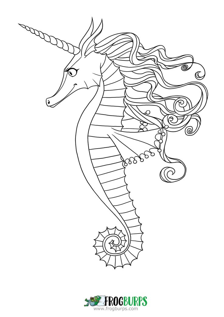 seahorse coloring page - Seahorse Coloring Pages