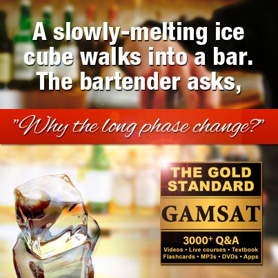 """A slowly-melting ice cube walks into a bar. The bartender asks """"Why the long phase change?"""""""